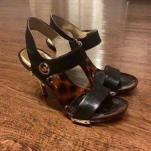 MK black heels